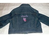 "Personalised Girl's Denim Jacket - ""Amelie"""