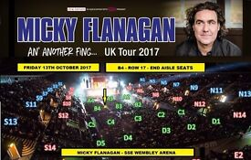 x4 Micky Flanagan Floor Block Tickets @ SSE Wembley on 13th Oct 2017