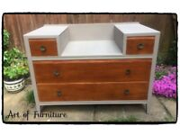 Antique Wooden Chest of Drawers Hand Painted in ANNIE SLOAN Coco Chalk Paint Upcycled