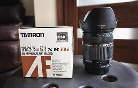 Tamron SP AF 28-75mm F2.8 XR Di LD Aspherical (IF) Macro Pentax Fit ( K mount