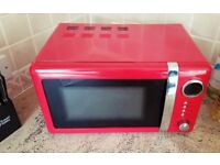 LOWEST PRICE) Wonderful stylish Red Microwave 20L easy to use