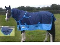 """Brand new Equidor Viper 6'3"""" heavyweight turnout rug with detachable neck"""