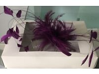 Feather head dress/fascinator