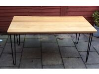 Heals Brunel, Oak Dining Table, Boxed.