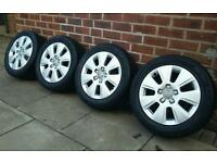 """Audi A3 16"""" alloy wheels and matching Avon ZZ3 tyres! 5x112"""