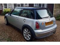 "Silver 2003 mini spares repairs - 17"" alloy run flats - leather sports seats"