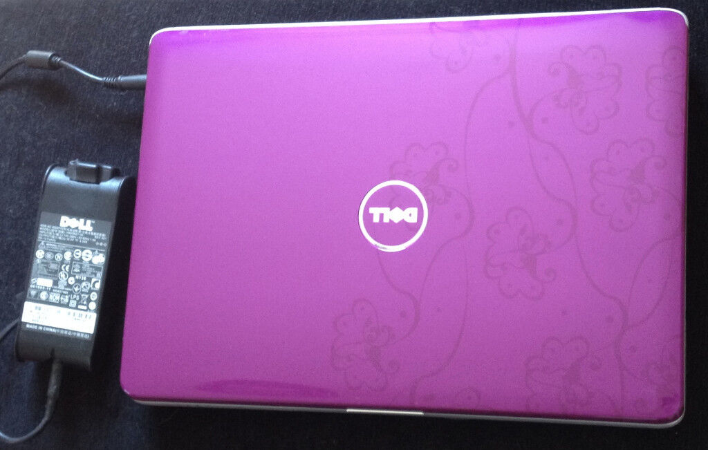 Dell Inspiron 1525 Laptop Purple With Flowers In