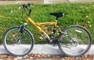 "Mountain Bike For Sale, FULL SUSPENSION  21-Speed 24""TIRES 17=INCH FRM.;NAKAMURA"