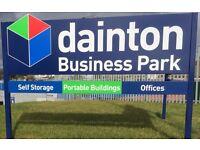 Dainton self storage & offices at Coity Rd Bridgend - 50% off first 8 weeks storage.
