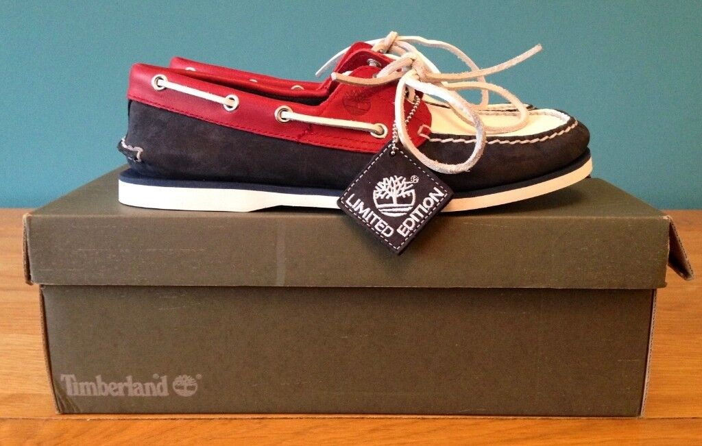 56f54b44ef5 BRAND NEW IN BOX TIMBERLAND BOAT SHOES - BLUE RED WHITE - UK 9 EU 43 US 10  | in Ramsgate, Kent | Gumtree