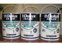 3x5L Dulux Weathershield Masonry Paint Smooth Magnolia