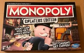 Monopoly Cheaters Edition Board Game. 100% Complete And Very Good Condition.
