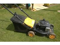 Petrol Lawn Mower McCulloch. M40-450C. Good condition, little used, with grass box.