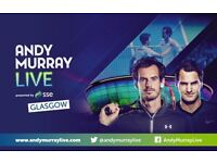 Andy Murray vs Roger Federer SSE Hydro Glasgow Tennis Live *Premium seats*