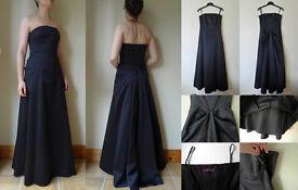 DEBENHAMS Black Tie Christmas Prom Formal Evening Dress Long Strapless Dress Gown UK 6 8 £100 ONO