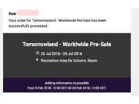 Tomorrowland: W2: Magical Friday Pleasure Pass