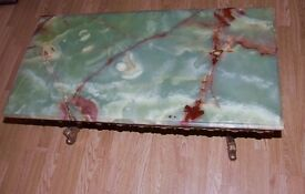 Stunning Vintage Onyx and Brass Table