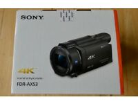 Brand New Sealed Sony FDR-AX53 Ultra HD 4K Camcorder