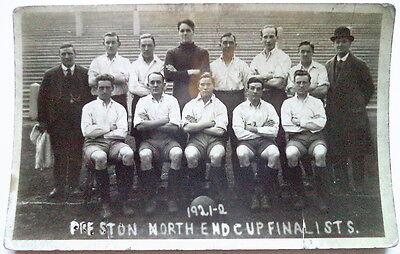 PRESTON NORTH END 1921-22 – F.A. CUP FINALISTS POSTCARD