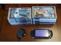 PSP + 7 games and 6 UMD movies for sale.