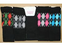 New 240 Pairs Ladies Thigh High Over The Knee Socks Diamond Pattern Clearance Stock Job Lot Size 4-8