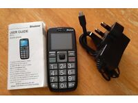 Binatone M312 basic mobile phone - with sim and £11 credit