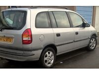 Vauxhall Zafira Elegance DTI 16V 02 plate 8 months mot