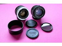 CANON FD 50mm 1:1.4 lens + VIVITAR 100-200mm matched multiplier