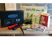 Nintendo Wii Bundle - includes games and wii fit