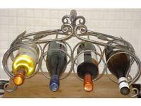 4 Bottle Iron Wine Rack