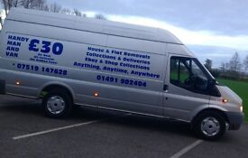 Handy man/removal man with a van all areas no job to small