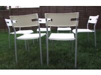 6 chairs dining chairs stackable chairs reception chairs FREE DELIVERY WITHIN le3