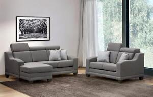 Branded Modern Couch Sale |  Free Local Shipping | Stylish Designer Fabric Grey Sofa -Starting from $698