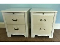 Pair of Chest of Drawers made by Silient News night with two drawers and pull out tray