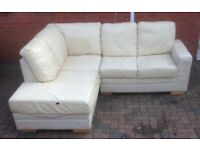 Sofa corner leather Can deliver