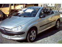 2002 PEUGEOT 206 CONVERTIBLE FULL CAR. !! for spare parts only !!!
