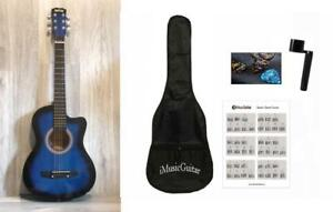 3/4 size 36 inch Acoustic Guitar Package Superb Blue for kids iMusic813
