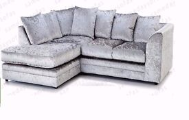 """Luxury Dylan Crushed Velvet Sofa in """"Silver"""" and """"Black"""" Color!! Order Now for """"EXPRESS DELIVERY"""