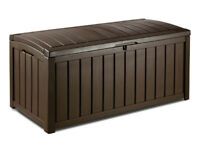 Keter Glenwood Outdoor Plastic Storage Box Garden Furniture. Fully built and delivery available,