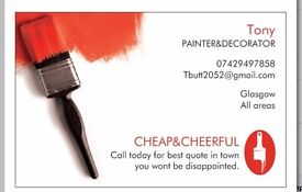 CHEAP&CHEERFUL PAINTER&DECORATOR LOOKING FOR WORK:))