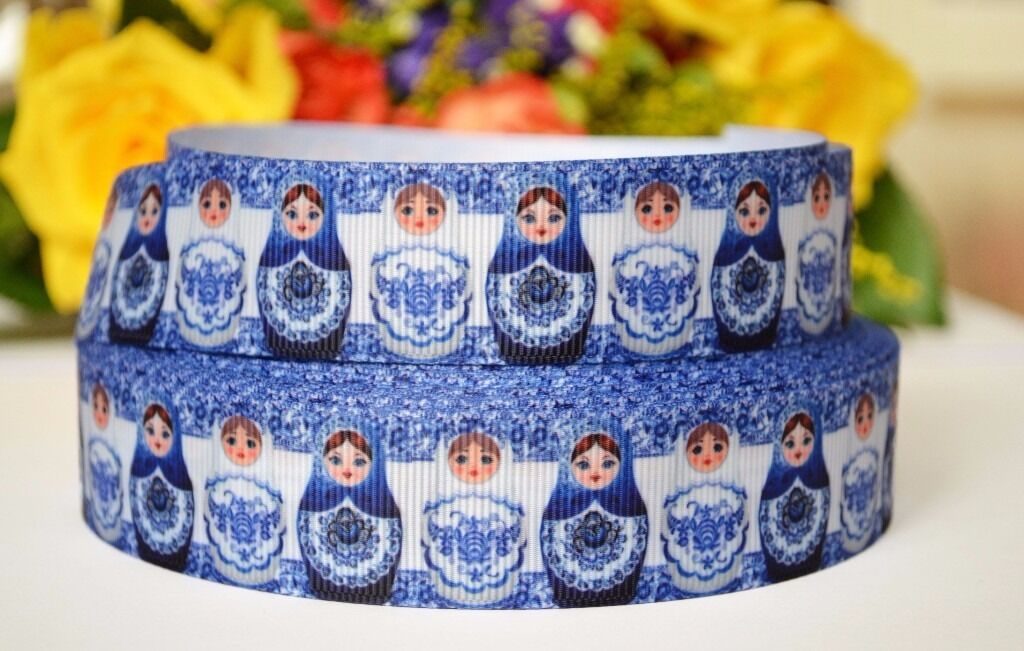 2m Russian Dolls, Matryoshka Printed Grosgrain Ribbon, Hair Bows Ribbon, 25mmin Norwich, NorfolkGumtree - 2m x 25mm Russian Dolls Grosgrain Ribbon This listing is for 2m (200cm) of printed grosgrain ribbon. Perfect for any craft projects, gifts wrapping, hair bows, toys. The width 25mm Orders over 2 meter will be supplied in a continuous length. If you...