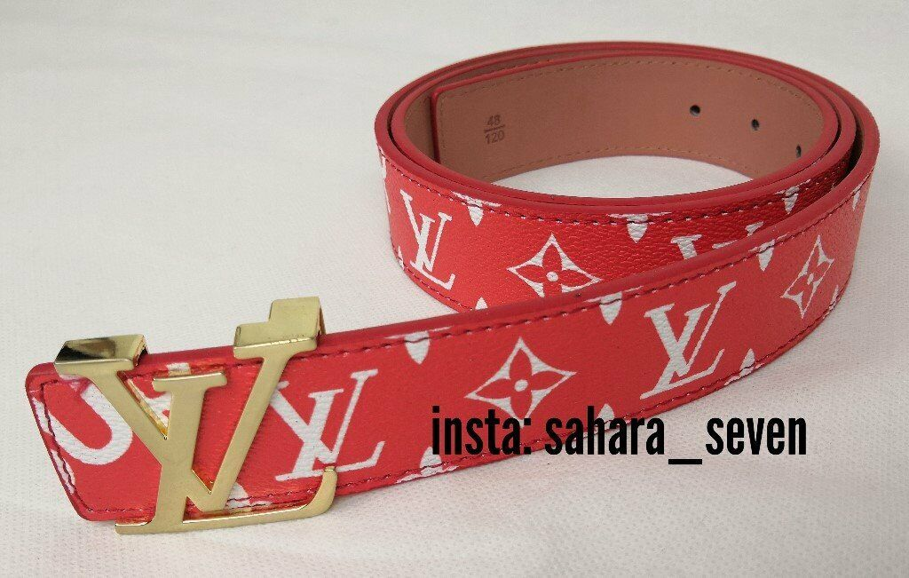 a3b64cb4472c Red belt Louis Vuitton aNY 2 FOR £60 x Supreme LV belt £35