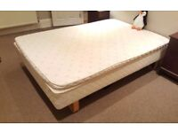 LOVELY DOUBLE BED WITH MATTRESS TOPPER