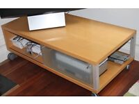 Maskreys TV stand with frosted sliding door