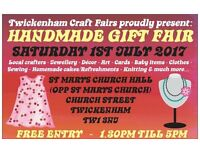 TCF's Handmade Gift Fair - Twickenham - 1st July 2017