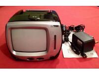 "MTEC 5.5"" portable black and white tv."