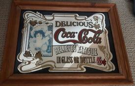 Coca Cola pub advertising mirror (vintage)