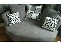 DFS Gloss Cuddle Chair - Grey