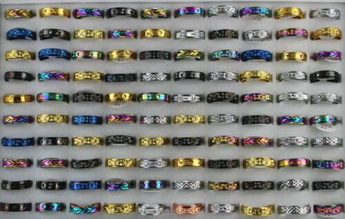 New Fashion Jewelry Wholesale Lots 40pcs Stainless steel Rotation Alloy Rings