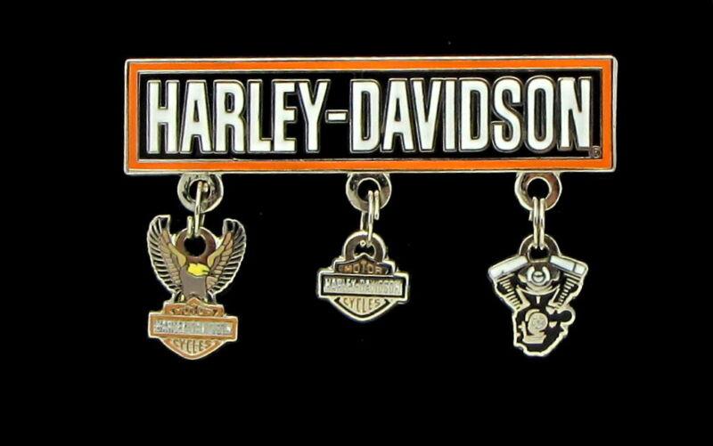 HARLEY DAVIDSON BAR SHIELD EAGLE V-TWIN MOTOR DANGLE PIN VEST JACKET MOTORCYCLE